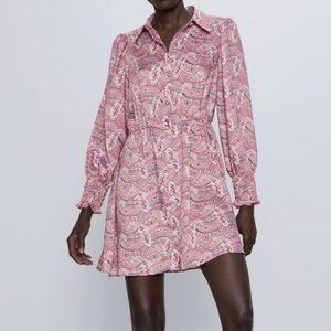 Zara Print Dress Size M NWT
